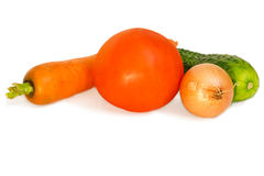 Vegetables composition isolated on white Royalty Free Stock Photos