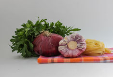 Vegetables for coocking pasta Royalty Free Stock Photography