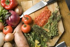 Vegetables for cooking Stock Images