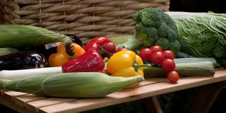 Vegetables for cooking. Beautiful vegetables on the table for cooking tasty and healthy dishes stock photos