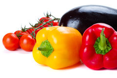 Vegetables for cooking over white Stock Photo