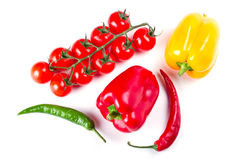 Vegetables for cooking over white Stock Images