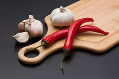 Vegetables and cooking utensils Royalty Free Stock Photography