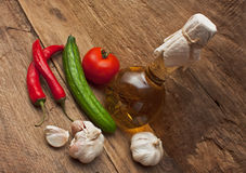 Vegetables and cooking utensils Royalty Free Stock Images