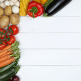 Vegetables with copyspace Royalty Free Stock Images