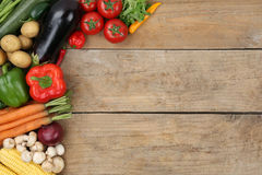 Vegetables with copyspace Stock Photo