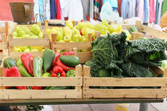 Vegetables crates Royalty Free Stock Photo
