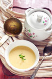 Vegetables cream soup Stock Photo