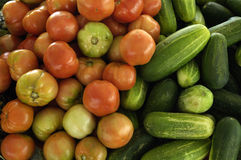 Vegetables at a creole market Stock Photo