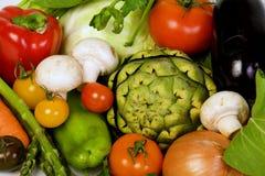 Vegetables crop background. Variety of fresh vegetable crop background Stock Photography