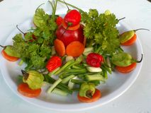 VEGETABLES AND CULINARY DECORATION Stock Photo