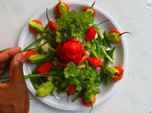 VEGETABLES AND CULINARY DECORATION Stock Image
