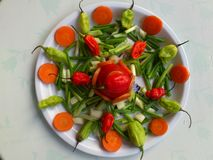VEGETABLES AND CULINARY DECORATION Stock Photography