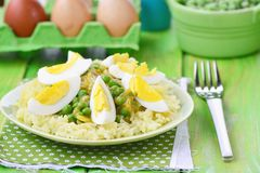 Vegetables curry with eggs Royalty Free Stock Images
