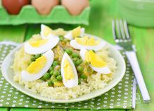Vegetables curry with eggs Royalty Free Stock Photos