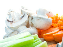 Vegetables cut on a board Royalty Free Stock Photo