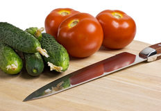 Vegetables on a cutting board Stock Photos