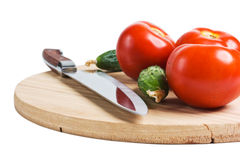 Vegetables on a cutting board Royalty Free Stock Photo