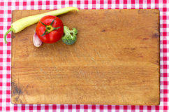 Vegetables on cutting board - closeup Stock Image