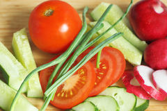 The vegetables on the cutting Board. Stock Photo
