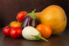 Vegetables on the dark background Stock Images