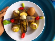 Vegetables,decoration and culinary art Royalty Free Stock Image