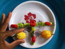 Vegetables,decoration and culinary art Royalty Free Stock Images