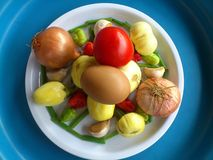 Vegetables,decoration and culinary art Stock Photo