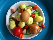 Vegetables,decoration and culinary art Royalty Free Stock Photography