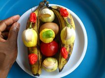 Vegetables,decoration and culinary art Stock Image