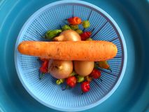 Vegetables,decoration and culinary art Stock Photos