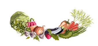 Vegetables Decorative Composition Royalty Free Stock Photo