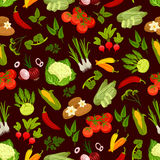 Vegetables decorative seamless pattern Royalty Free Stock Photo
