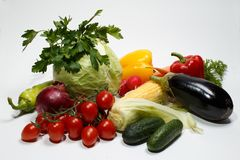 Vegetables for a diet stock image
