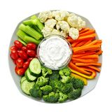 Vegetables and dip Royalty Free Stock Photography