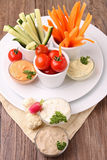 Vegetables and dip Stock Image
