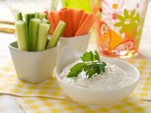 Vegetables dip Stock Images