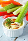 Vegetables and dip. Stock Photos