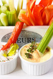 Vegetables and dip. Stock Photo
