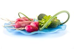 Vegetables on a dish Royalty Free Stock Photos