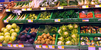 Vegetables on display Stock Images