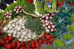 Vegetables on display Stock Photography
