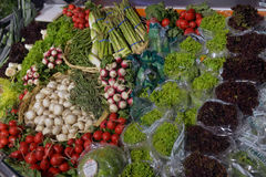 Vegetables on display Royalty Free Stock Photography