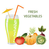 Vegetables drink in glasses Stock Photography