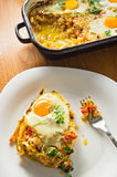 Vegetables and eggs cooked Royalty Free Stock Photo