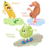 Vegetables engage in sports part 6 Stock Image