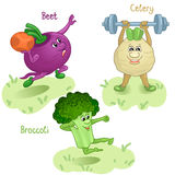 Vegetables engage in sports part 3 Royalty Free Stock Images