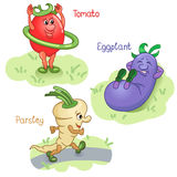 Vegetables engage in sports part 1 Stock Photography