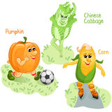 Vegetables engage in sports part 4 Royalty Free Stock Photos