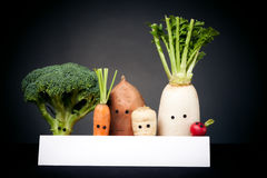 Vegetables With Eyes Royalty Free Stock Photo